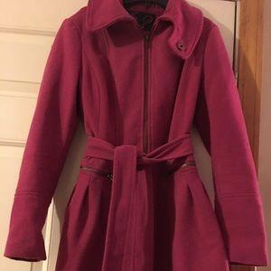 Pink Dress Coat, worn some